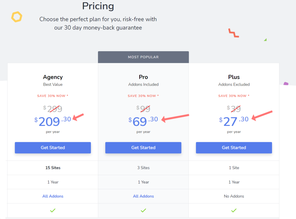 social snap pricing with discount