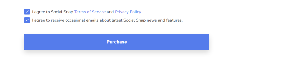 socialsnap pro checkout