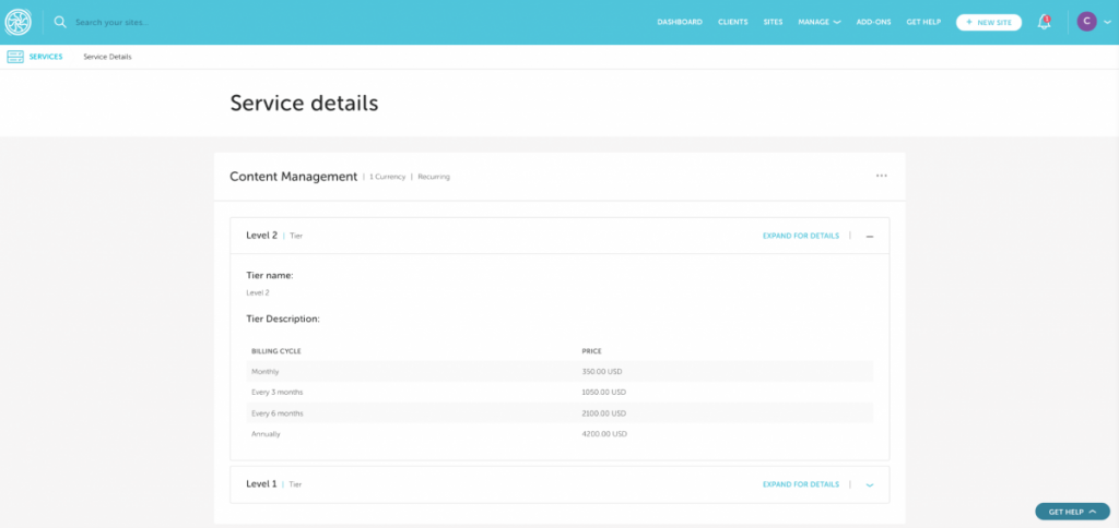growth suite dashboard